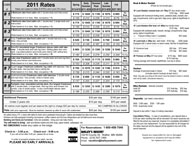 2011 Printable Rates Sheet